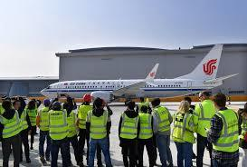 Boeing delivers first 737 from new Chinese factory